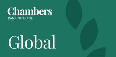 We are ranked in Chambers & Partners Global guide for 2020